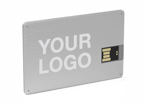 Branded usb sticks usb business cards in 5 days alloy credit card usb stick reheart Images